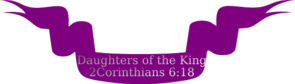 Daughters Of The King Ribbon Banner Clip Art