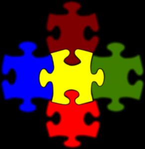 Jigsaw White Puzzle Piece Large Clip Art