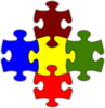 Jigsaw White Puzzle Piece Large Clip Art