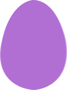 Purple Easter Egg Clip Art