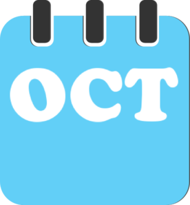 October Teal Clip Art