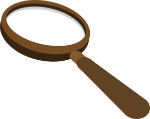 Magnifying-glass Brown Clip Art
