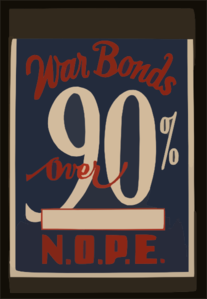 War Bonds Over 90% N.o.p.e. Clip Art