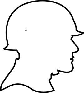 Soldier Outline Clip Art
