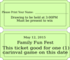 Carnival Ticket Clip Art