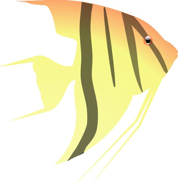 angel fish clip art at clker com vector clip art online angelfish clipart angel fish clip art free