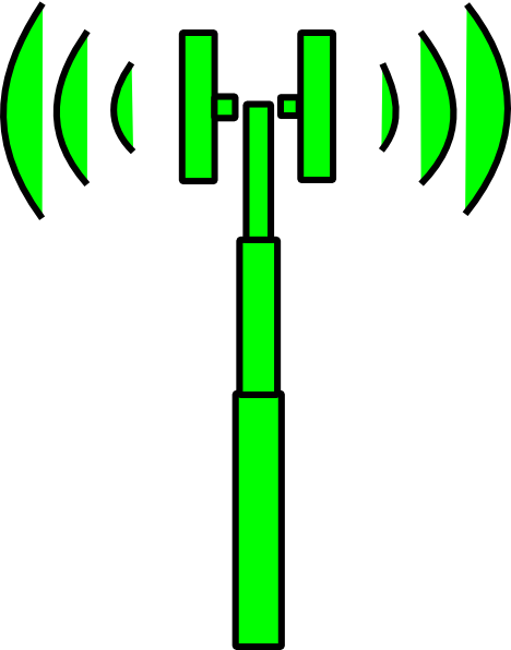 Green Wifi Tower Clip Art at Clker.com - vector clip art online ...