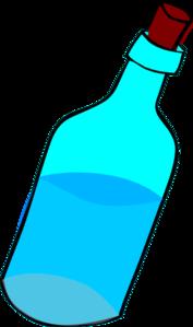 Glass Blue Bottle Full Of Water Clip Art at Clker.com - vector ...
