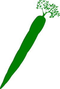 Green Carrot Clip Art
