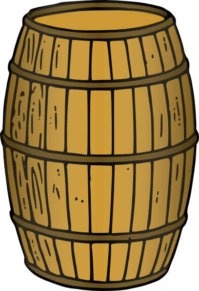 Wooden Barrel Clip Art at Clker.com - vector clip art online, royalty free & public domain