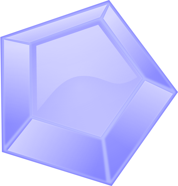 blue diamond shape clip art at clkercom vector clip art