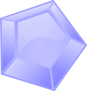 Blue Diamond Shape Clip Art
