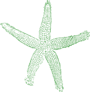 Starfish Sage - Single, Small Clip Art