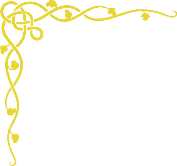 Vine Border Gold Clip Art at Clker.com - vector clip art ...