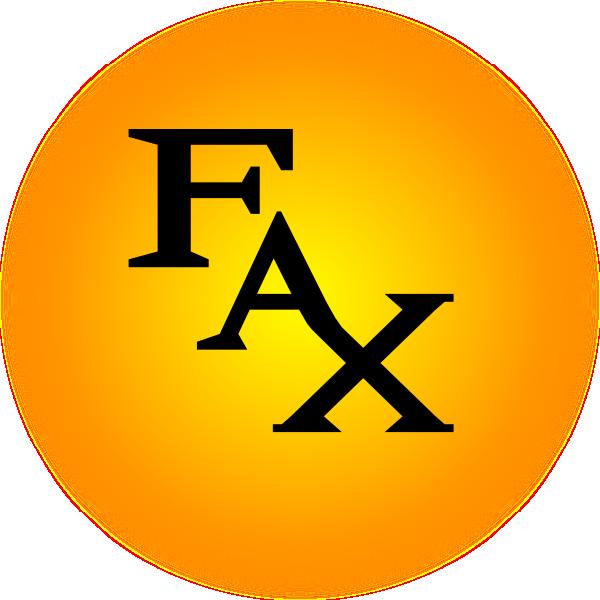 Orange Fax Icon Clip Art at Clker.com - vector clip art ...