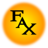 Orange Fax Icon Clip Art