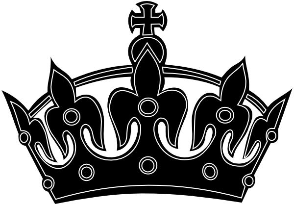 Black Keep Calm Crown Border 2 Clip Art At Clker Vector