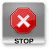 Square Stop Text Grey Clip Art