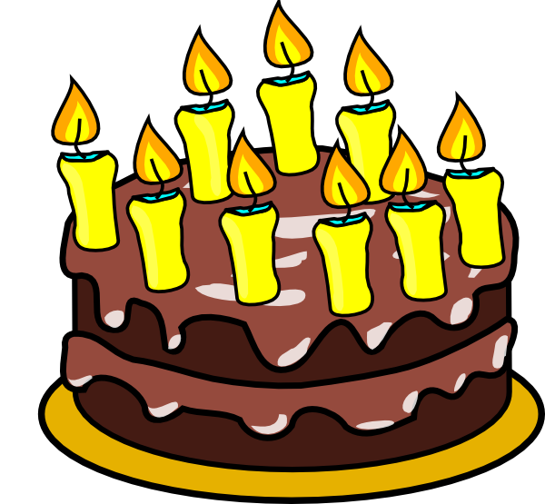 Clip Art Of Birthday Cake : 9th Birthday Cake Clip Art at Clker.com - vector clip art ...