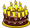 9th Birthday Cake  Clip Art