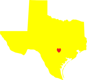 Yellow Heart Texas Clip Art