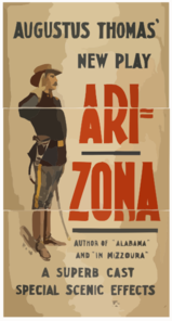 Augustus Thomas  New Play, Arizona Author Of  Alabama  And  In Mizzoura  : A Superb Cast, Special Scenic Effects. Clip Art