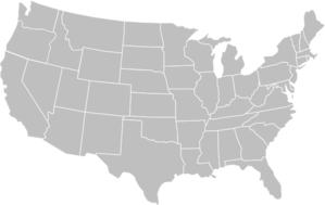 Blank Gray Usa Map White Lines Clip Art