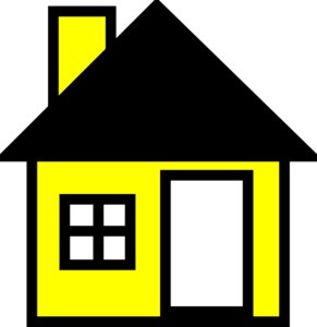 Yellow House The Clip Art