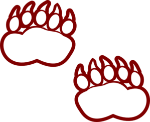 Modified Bear Paw Clip Art