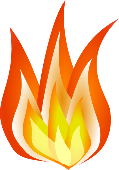 Shaded Flames Clip Art at Clker.com - vector clip art online, royalty ...