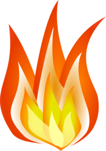 Shaded Flames Clip Art