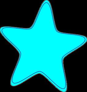 bright neon blue star clip art at clker com vector clip