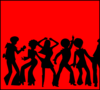 70;s Dancing Sihlouettes 4 Clip Art