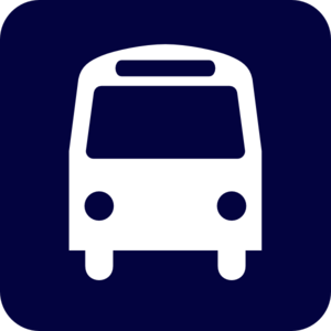Blue Bus Schedule Clip Art