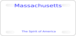 Massachusetts License Plate Clip Art
