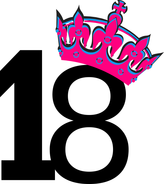 Pink Tilted Tiara And Number 7 Clip Art at Clker.com - vector clip art ...