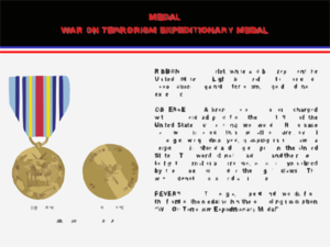 War On Terrorism Expeditionary Medal Clip Art