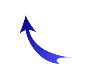 Upward Arrow Blue Clip Art