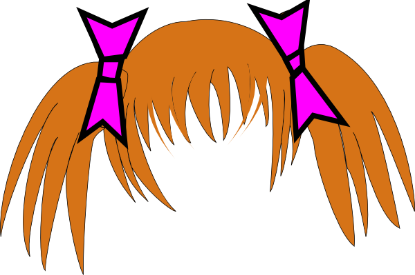 Hair W/ Pink Bows Clip Art at Clker.com - vector clip art online ...: www.clker.com/clipart-hair-w-pink-bows.html