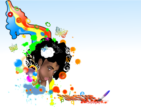 Black Woman Rainbow Clip Art at Clker.com - vector clip ...
