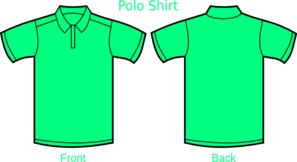Mint Green Polo Shirt Clip Art