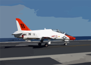 A T-45c Goshawk Assigned To Training Air Wing Two Maneuvers The Ship S Flight Deck Following And Arrested Landing Aboard Uss Harry S. Truman (cvn 75). Clip Art