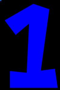 number one bright blue clip art at clker com vector clip art
