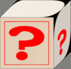 Blocks Question Mark Clip Art