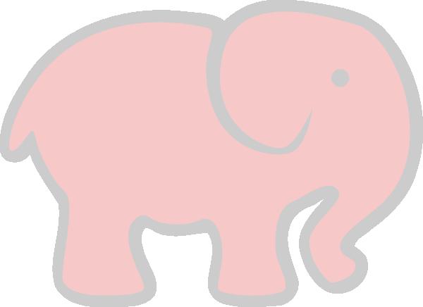clip art pink elephant - photo #17