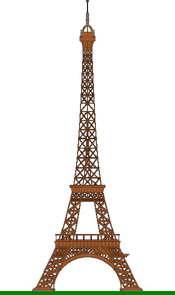 Eiffel tower french. La tour clip art