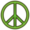 Peace Sign Green Clip Art