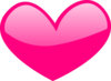 Pink Glossy Heart Clip Art