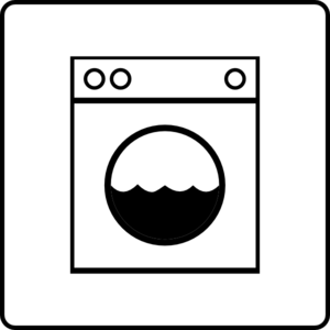 Hotel Icon Has Laundry Clip Art