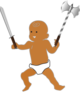Infant Warrior Clip Art
